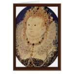 Portrait Of Queen Elizabeth I Of England Oval Card