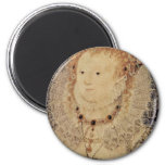 Portrait Of Queen Elizabeth I Of England Oval Refrigerator Magnets