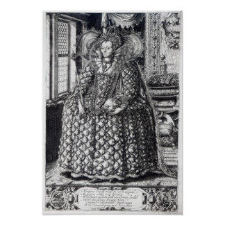 Portrait of Queen Elizabeth I Poster