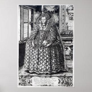 Portrait of Queen Elizabeth I Posters