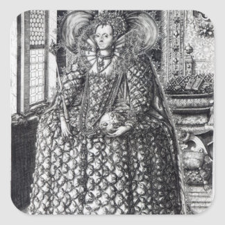 Portrait of Queen Elizabeth I Square Sticker
