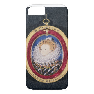 Portrait of Queen Elizabeth I (w/c on vellum) iPhone 7 Case