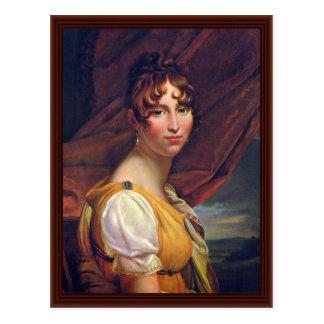 Portrait Of Queen Hortense Postcard