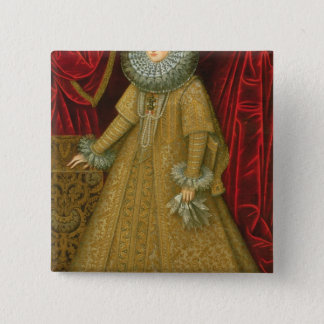 Portrait of Queen Isabel Clara Eugenia Button