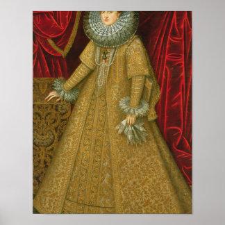 Portrait of Queen Isabel Clara Eugenia Print