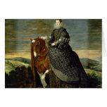 Portrait of Queen Margaret of Austria  1629-35 Greeting Card