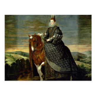 Portrait of Queen Margaret of Austria  1629-35 Postcard