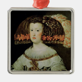 Portrait of Queen Maria Anna  of Spain Metal Ornament