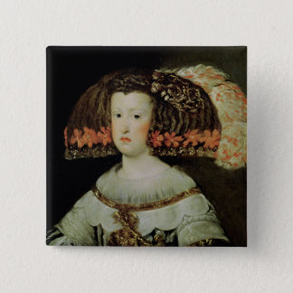 Portrait of Queen Maria Anna  of Spain Pinback Button