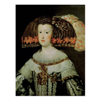 Portrait of Queen Maria Anna  of Spain Post Card