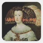 Portrait of Queen Maria Anna  of Spain Square Sticker