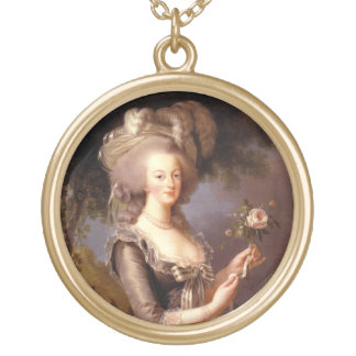 Portrait of Queen Marie Antoinette Gold Plated Necklace
