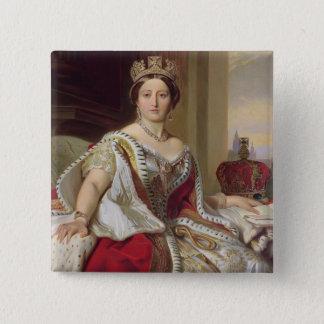 Portrait of Queen Victoria (1819-1901) 1859 (oil o Button