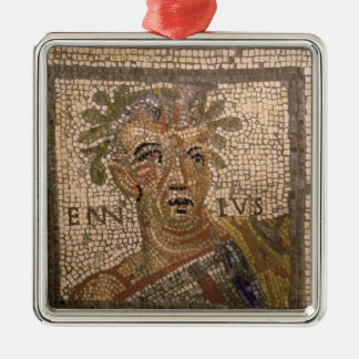 Portrait of Quintus Ennius Metal Ornament
