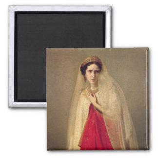 Portrait of Rachel 2 Inch Square Magnet