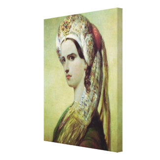 Portrait of Rachel Canvas Print