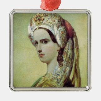 Portrait of Rachel Metal Ornament