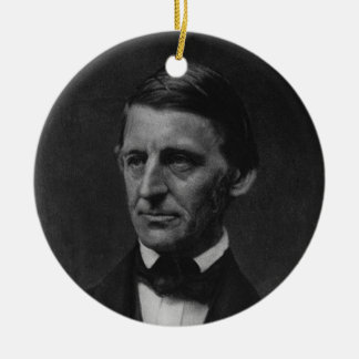 Portrait of Ralph Waldo Emerson in 1901 Christmas Tree Ornaments