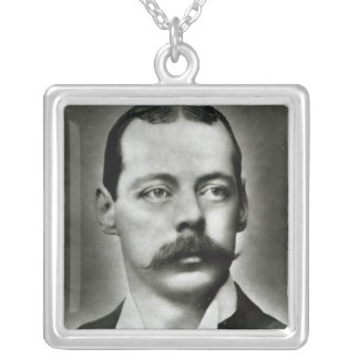 Portrait of Randolph Churchill Silver Plated Necklace