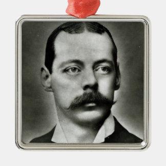 Portrait of Randolph Churchill Square Metal Christmas Ornament