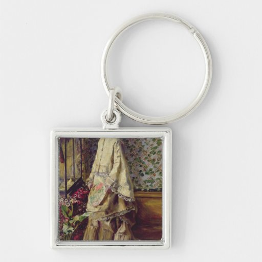Portrait of Rapha, 1871 Silver-Colored Square Keychain