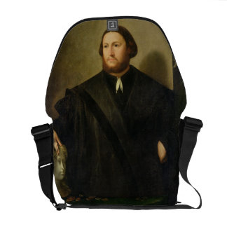 Portrait of Raphaele Grassi (oil on canvas) Messenger Bag