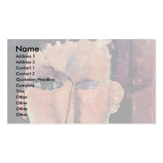 Portrait Of Raymond By Modigliani Amedeo Double-Sided Standard Business Cards (Pack Of 100)