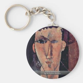 Portrait Of Raymond By Modigliani Amedeo Basic Round Button Keychain