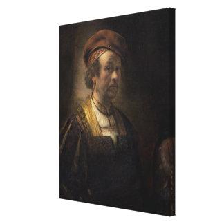 Portrait of Rembrandt, 1650 (oil on canvas) Canvas Print