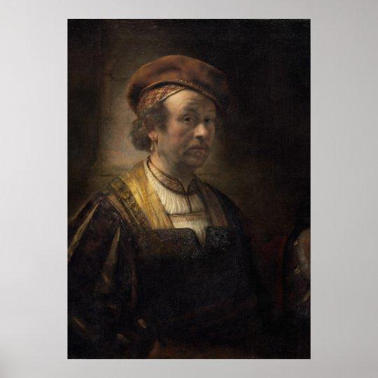 Portrait of Rembrandt, 1650 (oil on canvas) Poster