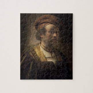 Portrait of Rembrandt, 1650 (oil on canvas) Jigsaw Puzzle