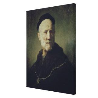 Portrait of Rembrandt's Father Canvas Print