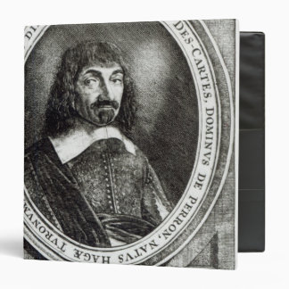 Portrait of Rene Descartes, 1644 3 Ring Binder