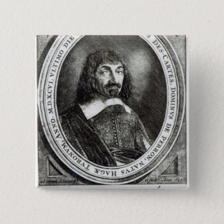 Portrait of Rene Descartes, 1644 Pinback Button