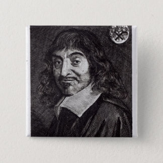 Portrait of Rene Descartes Button