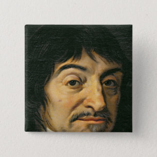 Portrait of Rene Descartes  c.1649 Button