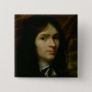 Portrait of Rene Descartes Pinback Button