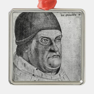 Portrait of Rene I  Duke of Anjou Metal Ornament