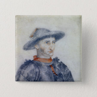 Portrait of Rene I  Duke of Anjou Pinback Button