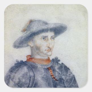 Portrait of Rene I  Duke of Anjou Square Sticker