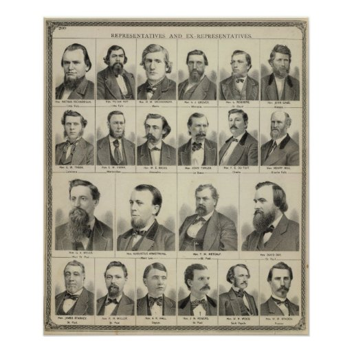 Portrait of Representatives, Minnesota Posters