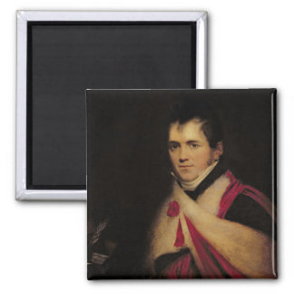 Portrait of Rev. Edward Daniel Clarke  c.1822 2 Inch Square Magnet