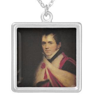 Portrait of Rev. Edward Daniel Clarke  c.1822 Square Pendant Necklace