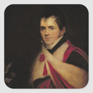 Portrait of Rev. Edward Daniel Clarke  c.1822 Square Sticker