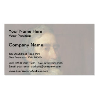 Portrait of reverend Harry Jones by George Watts Double-Sided Standard Business Cards (Pack Of 100)