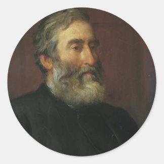 Portrait of reverend Harry Jones by George Watts Stickers