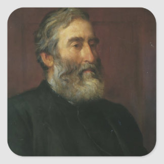 Portrait of reverend Harry Jones by George Watts Square Stickers