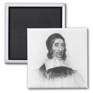 Portrait of Richard Baxter 2 Inch Square Magnet