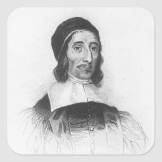Portrait of Richard Baxter Square Sticker