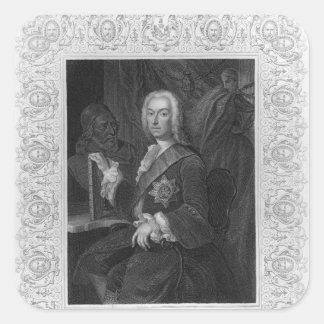 Portrait of Richard Boyle, Earl of Burlington Square Sticker